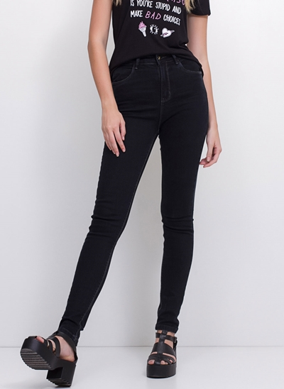 Calça Cigarrete em Jeans Black
