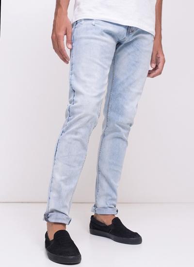 Calça Skinny Marmorizada em Jeans