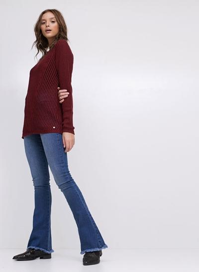 Calça Flare em Jeans