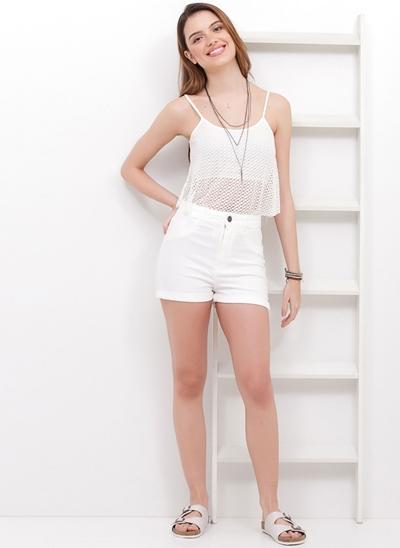 Short Cintura Alta em Jeans