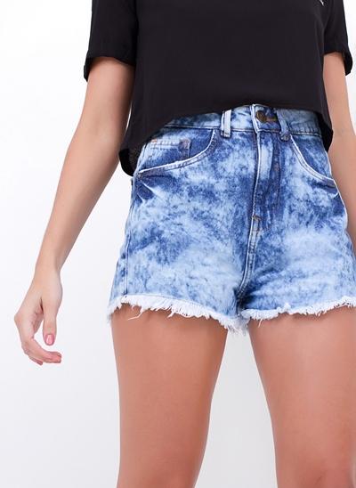 Short Hot Pants Barra Desfiadinha