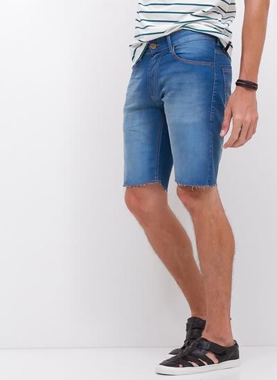 Bermuda Slim em Jeans Blue