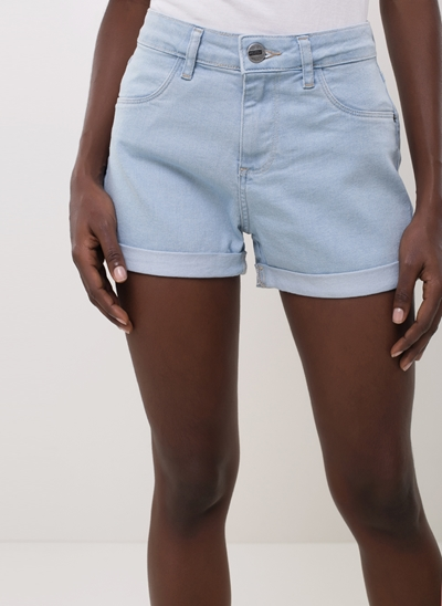 Short Hot Pants Barra Dobrada em Jeans