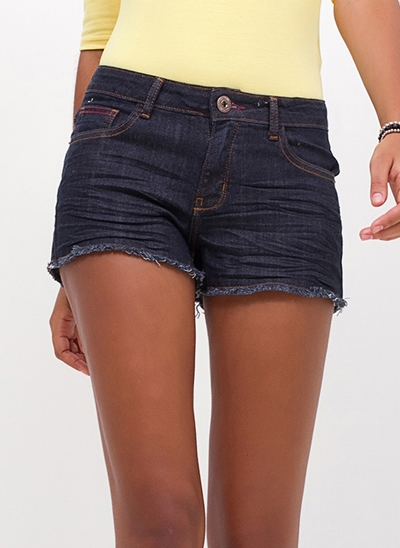 Short Regular Barra Desfiadinha em Jeans