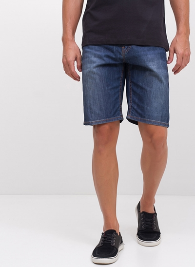 Bermuda Allday em Jeans Amassado