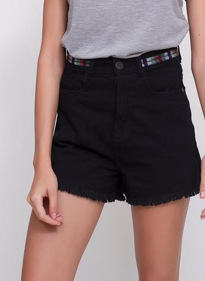 Short Vintage em Jeans Black