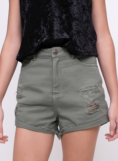 Short Hot Pants com Barra Desfiada