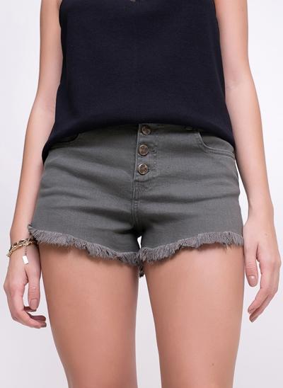 Short Hot Pants com Botões