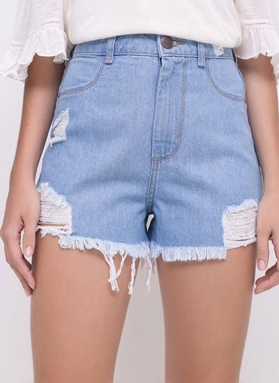 Short Hot Pants com Rasgos