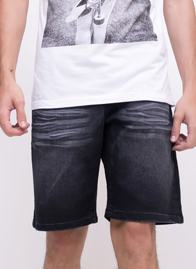 Bermuda em Jeans Black