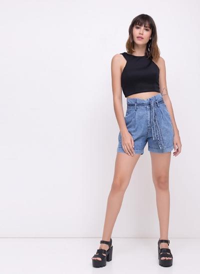 Short Clochard em Jeans