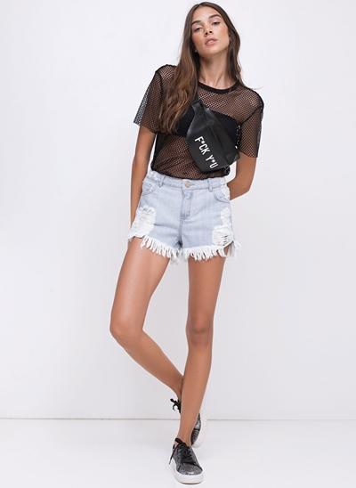 Short em Jeans Destroyed