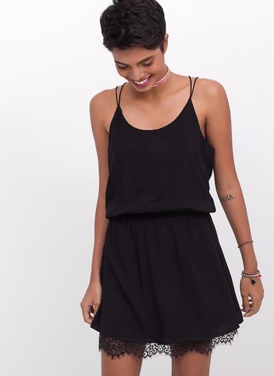 Vestido Lingerie Black com Renda