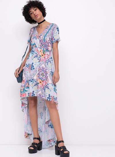 Vestido Longo Mullet Floral