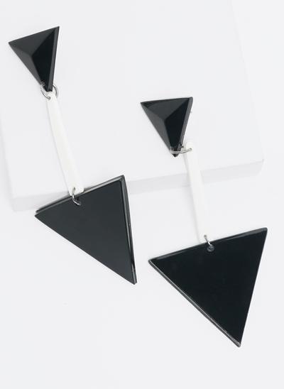 Brinco Acrílico Triângulos