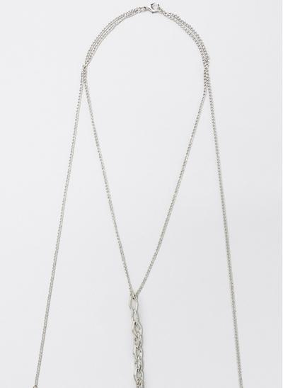 Colar Body Chain com Detalhe Argolas