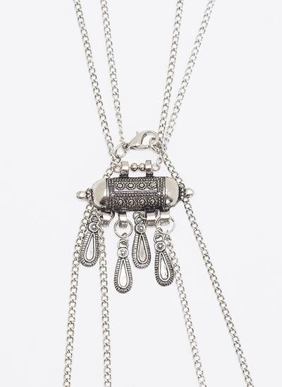 Colar Body Chain com Pingentes