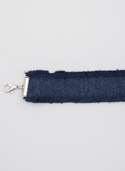 Colar Choker em Jeans ECO