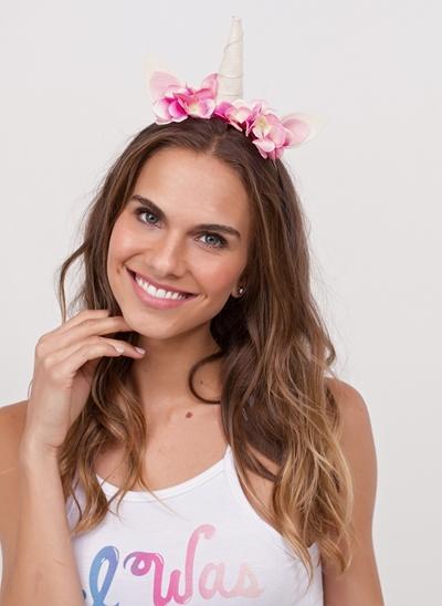 Tiara de Carnaval Unicórnio Flores