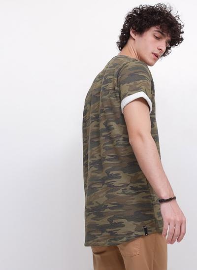 Camiseta Camuflada Moletinho