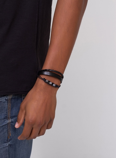 Kit de Pulseiras All Black