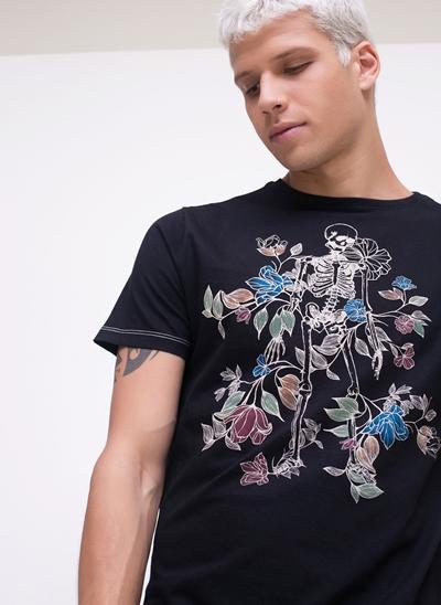 Camiseta Skull Flower
