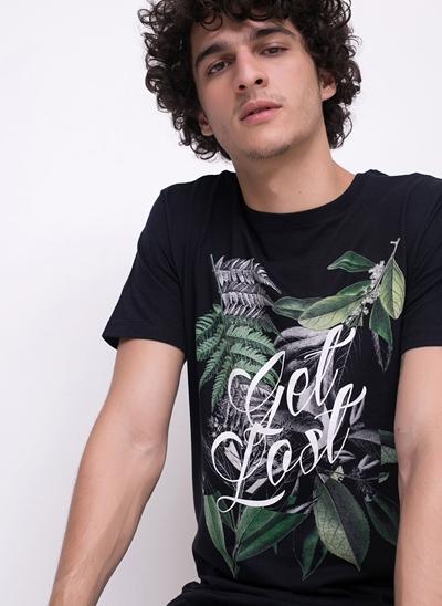 Camiseta Get Lost Folhagens