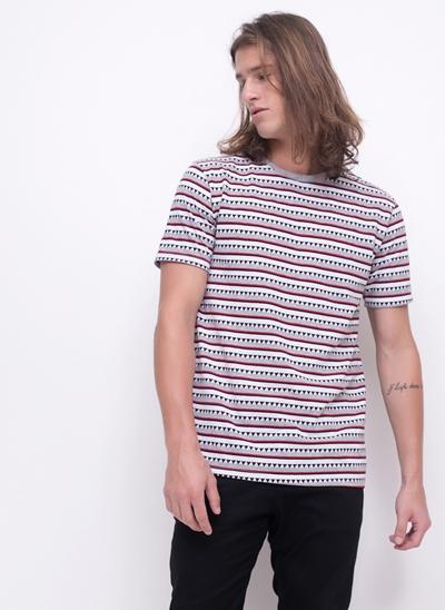 Camiseta Jacquard Listrada
