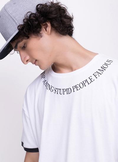 Camiseta Alongada Famous