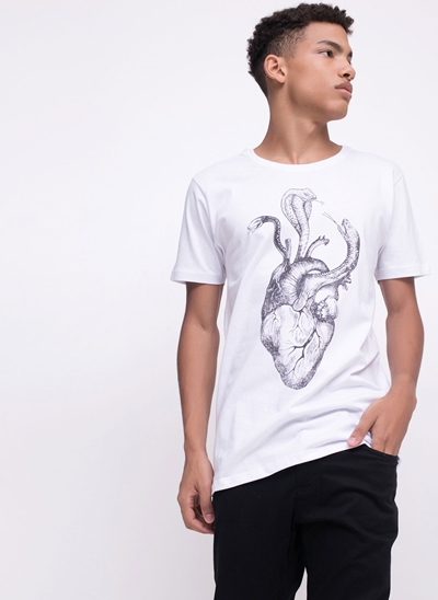 Camiseta Heart and Snake