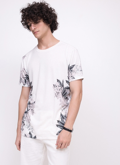 Camiseta Folhagens em Linho