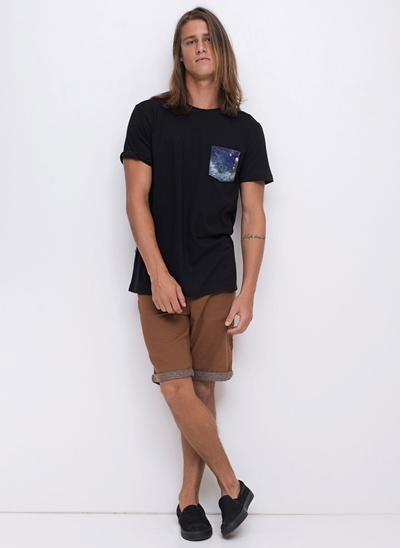 Camiseta com Bolsinho Space