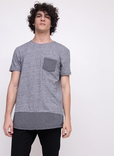 Camiseta Alongada ECO com Bolsinho