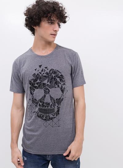 Camiseta Caveira Geométrica