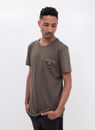Camiseta Alongada com Detalhe