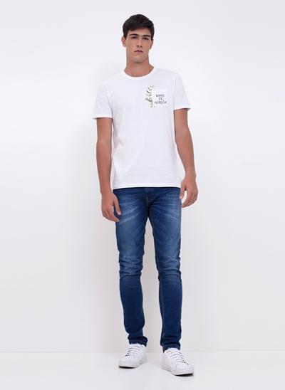 Camiseta com Bolso Keep it Simple