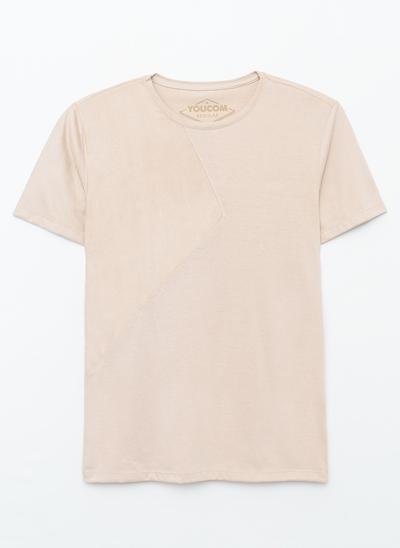 Camiseta Alongada com Recorte