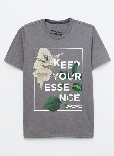 CAMISETA SILK KEEP YOUR ESSENCE FLORAL