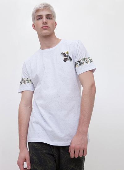 Camiseta Calopsita Floral