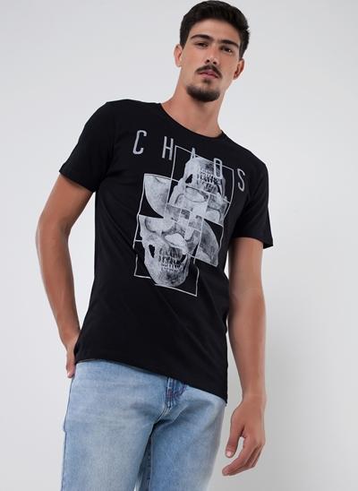 Camiseta Caveira Chaos