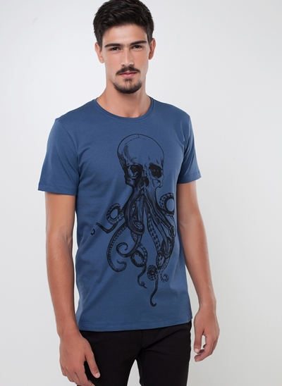 Camiseta Caveira Polvo