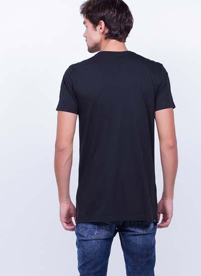 Camiseta Alongada com Zíper