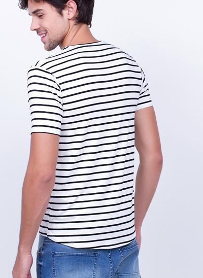 Camiseta Manga Curta Listrada