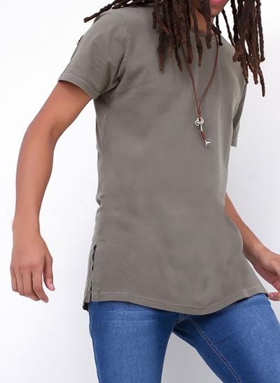 Camiseta Alongada Militar