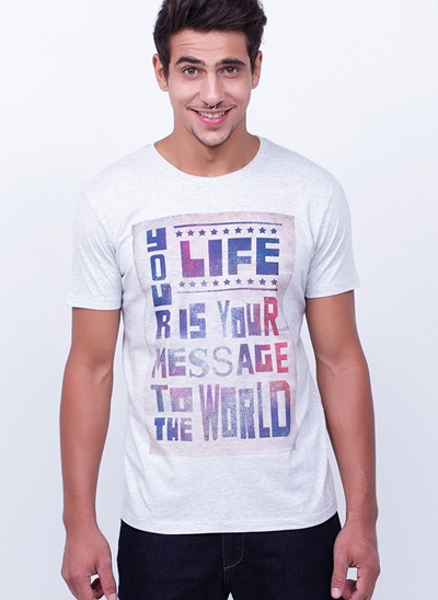 Camiseta Life is Your Message