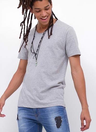 Camiseta Gola U em Flamê
