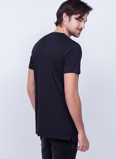 Camiseta Alongada Manga Curta