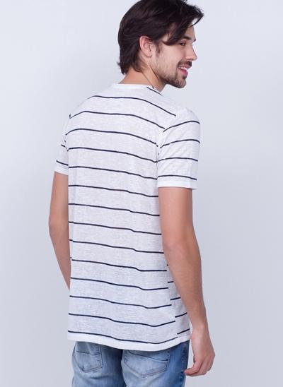 Camiseta Alongada com Listras