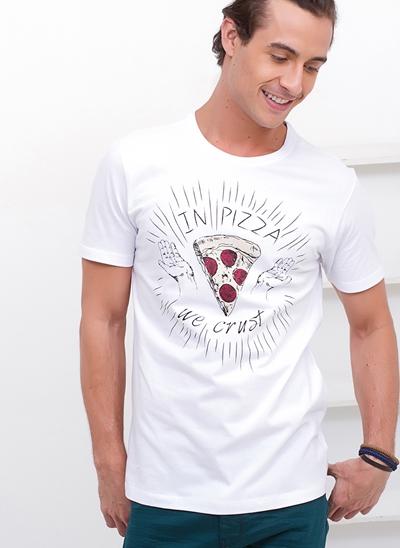 Camiseta In Pizza We Trust