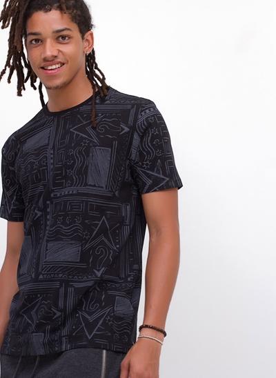 Camiseta Estampada Abstrata